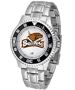 NCAA Oregon State Beavers Mens Competitor Watch with Stainless Steel Band by SunTime