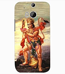 ColourCraft Lord Hanuman Design Back Case Cover for HTC ONE M8
