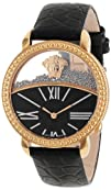 "Versace Women's 93Q80BD008 S009 ""Krios"" Rose Gold Ion-Plated Stainless Steel and Black…"