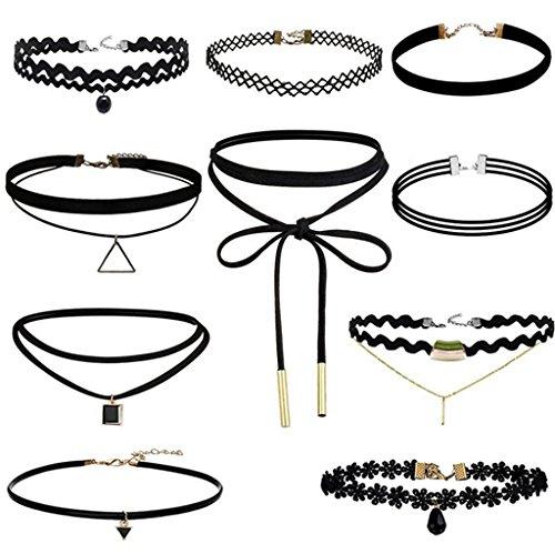 asskdan-10-stuck-choker-halsketten-set-velvet-tattoo-langkettige-pu-schwarze-10-pcs