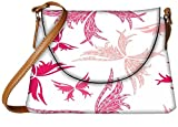 Snoogg Big Unique Butterfly White Pattern Designer Womens Carry Around Sling Bags