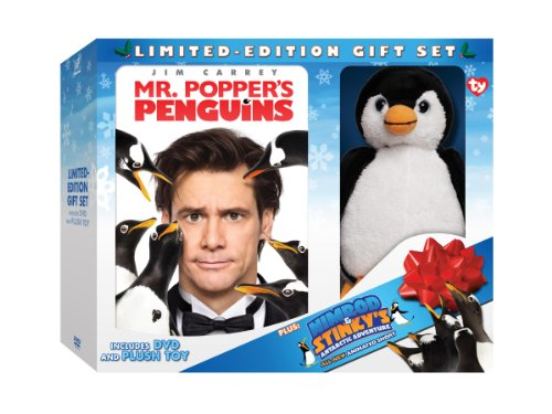 dvd with plush penguin
