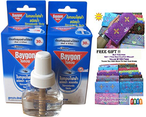2 X Refillable Protector Raid Mosquito Baygon Electric Liquid Type On Sell With Complementary