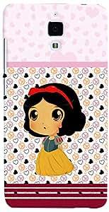 PRINTVISA Cartoon Pattern Girl Case Cover for Xiaomi Mi4