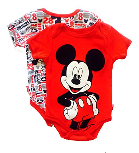Mickey Mouse Original 2 Pk Bodysuits(Size 0/3Months) front-85868