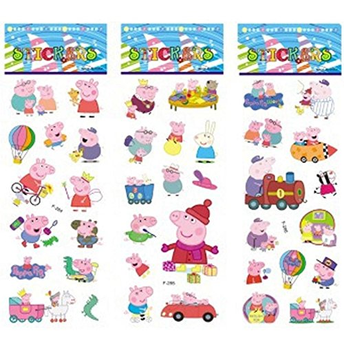 IBTS®6 sheets/set pink pig stickers for kids Home wall decor on laptop cute animal mini 3D sticker (Cute Number Stickers compare prices)
