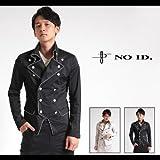 【NO ID.(ノーアイディー)】ストレッチサテンパイピングナポレオンショートジャケット