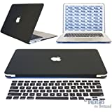 "DigitalsOnDemand ® Black Rubberized Hard Shell Case Cover with Free Keyboard Cover for Apple Macbook Air 13"" 13.3 Inch Model A1369 & A1466 Laptop (Will Not Fit Macbook Pro 13"" or Macbook Air 11"")"