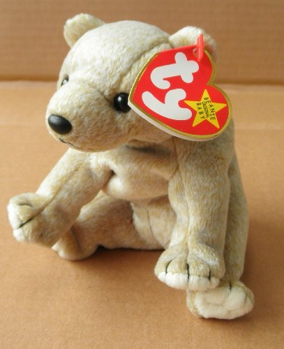 TY Beanie Babies Almond the Bear Stuffed Animal Plush Toy - 7 inches long - Brown - 1