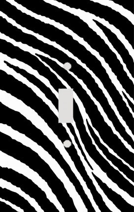 Wavy Zebra Skin Stripe Print Decorative Switchplate Cover