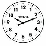 Taylor 166 12-Inch Metal Indoor-Outdoor Clock