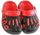 Lilsta Unisex Red & Black Rubber Sandals- 27