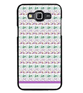 PrintDhaba I Love You Pattern D-1600 Back Case Cover for SAMSUNG GALAXY GRAND 3 (Multi-Coloured)