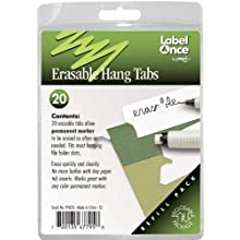 Jokari Label Once Erasable Hang Tabs Refill Pack, 20-Count