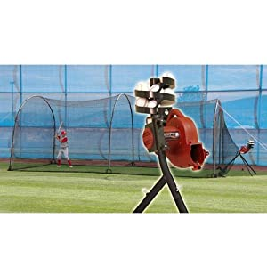 Buy BaseHit & Xtender 24 System - Real Ball Pitching Machine & 24' x 12' x 12'... by Trend Sports
