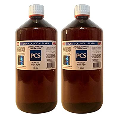 2 x Colloidal Silver 25ppm - 1 Litre (1000ml) (Includes 1st Class P&P!) [2 For 1 Deal]