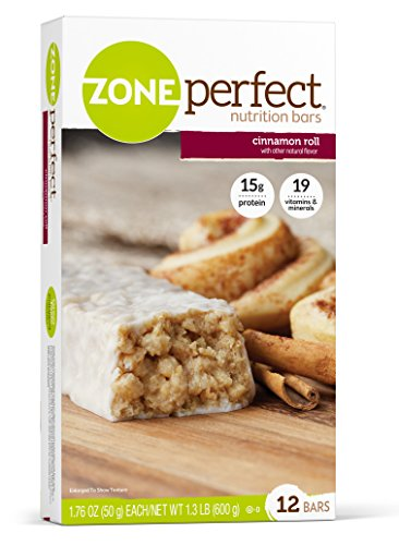 Barres nutritives ZonePerfect, Cinnamon Roll,