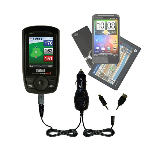 Gomadic Dual Dc Vehicle Auto Mini Charger Designed For The Bushnell Yardage Pro Xgc Xg - Uses Gomadic Tipexchange To Charge Multiple Devices In Your Car