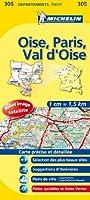 Carte DEPARTEMENTS Oise, Paris, Val-d'Oise