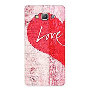 Stylish Love Pink Multicolor Back Case Cover for Galaxy A7