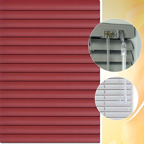 Aluminium Jalousie 125 x 190 cm (Breite x Höhe) – Lamellenfarbe 1311 weinrot // Maßanfertigung Alu Jalousien Jalousette Rollo Plissee