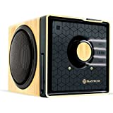 GOgroove Rechargeable Bluetooth Wood Style Speaker with NFC Technology - Works With Apple iPad mini 3 , Google Nexus 9 , Dragon Touch Y88X and More