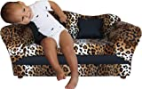 Fantasy Furniture Wave Sofa, Leopard