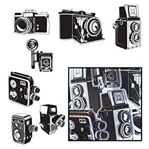 Transparencies Die-Cuts 14/Pkg-Say Cheese Camera 7 Styles/Black