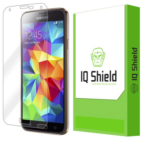 Iq Shield Liquidskin - Samsung Galaxy S5 Screen Protector With Lifetime Replacement Warranty - High Definition (Hd) Ultra Clear Phone Smart Film - Premium Protective Screen Guard - Extremely Smooth / Self-Healing / Bubble-Free Shield - Kit Comes In Frustr