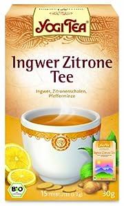 Yogi Tee Ingwer Zitrone Tee, 4er Pack (4 x 30 g Karton) - Bio