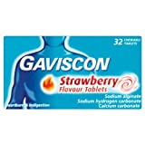 Gaviscon Strawberry Flavour Chewable Tablets - Pack of 32 Tablets