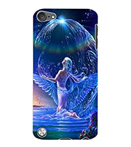 ColourCraft Beautiful Angel Design Back Case Cover for APPLE IPOD TOUCH 5
