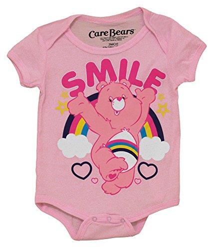 Care Bears Rainbow Smile Cartoon Pink Baby Creeper Romper Snapsuit