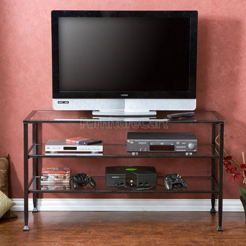 Cheap Distressed Metal with Glass TV Stand MS8774 (B008N8CMWA)