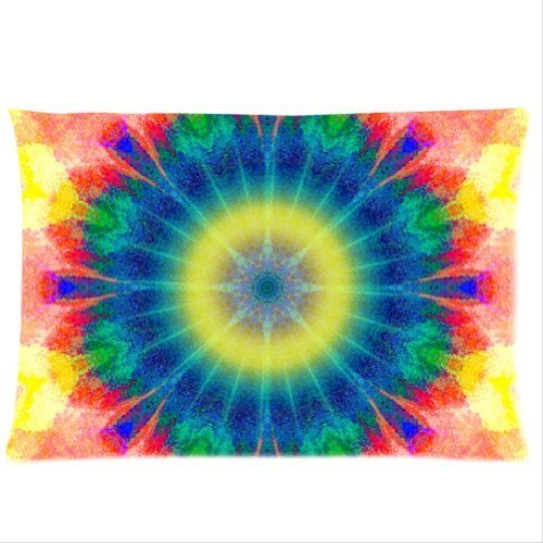 Personalized Colourful Tie Dye Pillowcases 150 Thread Count 20X30 Inches (Two Side )