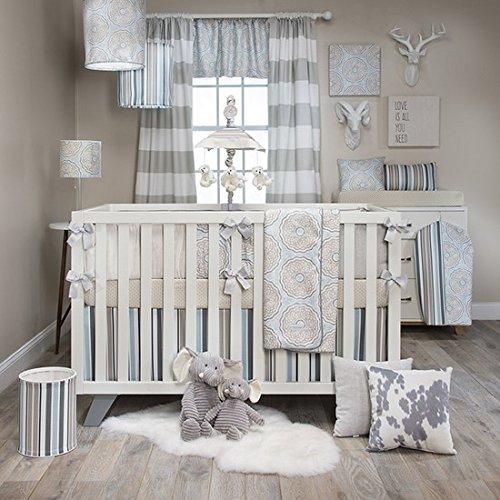 Luna 4 Piece Crib Bedding Set with Bumper