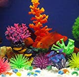 Jaggerpet 6 Pcs Aquarium Sea Silicone Anemone Ornament For Fish Tank (Large)