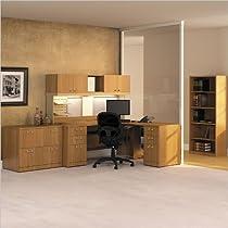 Big Sale Bush Furniture Quantum Wood Office Set with Hutch in Modern Cherry