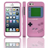 JAMMYLIZARD Gameboy Silicone Case for Apple iPhone 5 Includes Screen Protector & Cloth (Pink)by JAMMYLIZARD