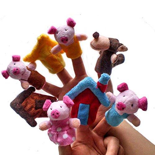 VIASA 8pcs Animal Finger Puppet Plush Toys
