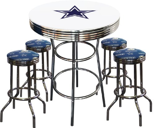 Where to buy 5 piece dallas cowboys logo chrome finish white pub 5 piece dallas cowboys logo chrome finish white pub table w 4 bar stools watchthetrailerfo