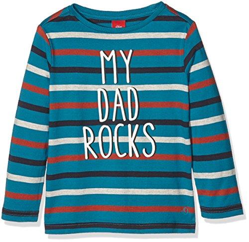 s.Oliver 78.609.31.6450, T-Shirt Bambino, Mehrfarbig (Petrol Stripes 63G0), 8 anni