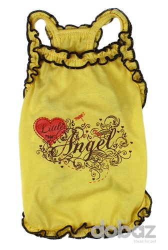 Lil Angel Dog Shirt - Yellow, Large