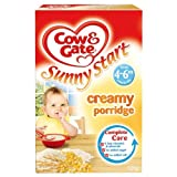 Cow & Gate Baby Balance 4m Onwards Creamy Porridge 6x125g