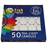#3: Nanki Trades Wax Tea Light Candle (White, Set of 50, 3 Hours Burn Time)