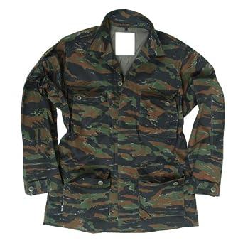 Tactical Vietnam BDU Shirt Mens Combat Uniform Jacket Airsoft Tiger Stripe Camo