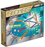 Geomag 30-Piece Glitter Construction Set with Assorted Panels - Mentally Stimulating for Children and Adults - Safe and High Quality Construction - For Ages 3 and Up