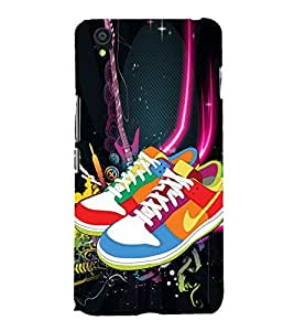 Colourful Shoes 3D Hard Polycarbonate Designer Back Case Cover for OnePlus X :: One Plus X :: One+X