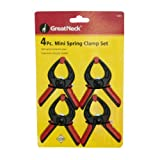 Great Neck Saw 19003 Spring Clamp Set, Mini, 4-Piece