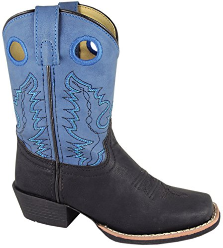 Smoky Mountain Childs Western Memphis Square Toe Boots Black